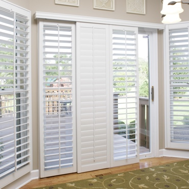 Honolulu Sliding Patio Door Shutters